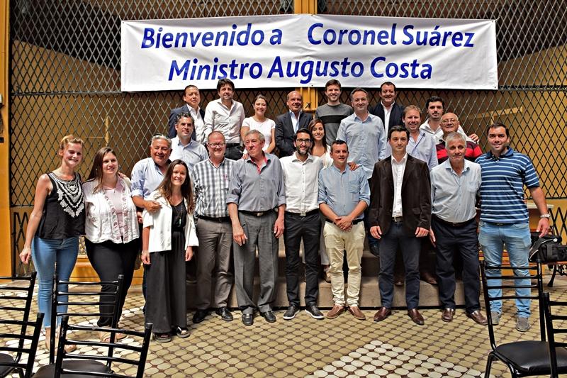 EL INTENDENTE JULIO MARINI PARTICIPO DE LA VISITA DEL MINISTRO COSTA A CORONEL SUAREZ