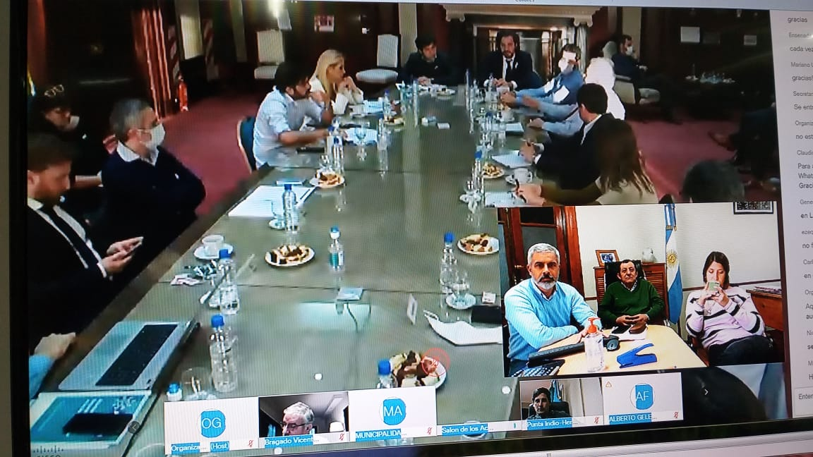 Encuentro entre los Comités Operativos de Emergencia (COE) de la Nación y la Provincia